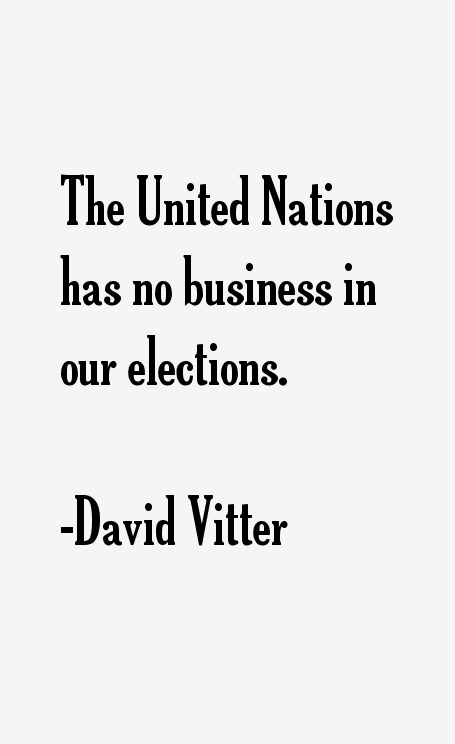 David Vitter Quotes