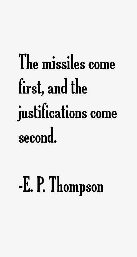 E. P. Thompson Quotes