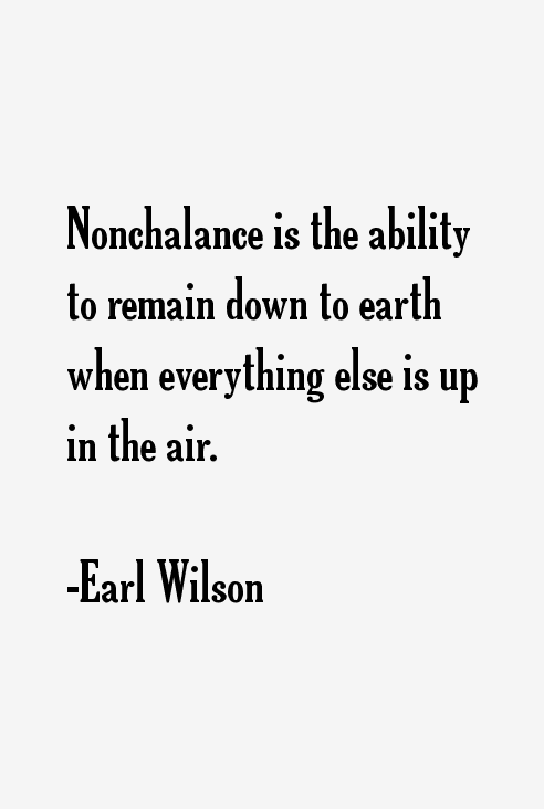 Earl Wilson Quotes
