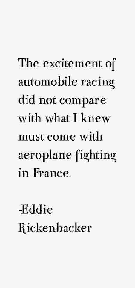 Eddie Rickenbacker Quotes