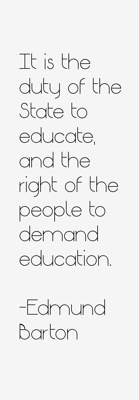 Edmund Barton Quotes