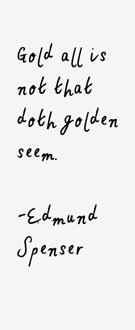 Edmund Spenser Quotes