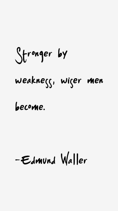 Edmund Waller Quotes