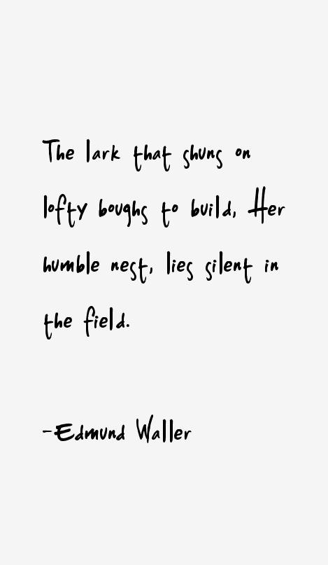 Edmund Waller Quotes