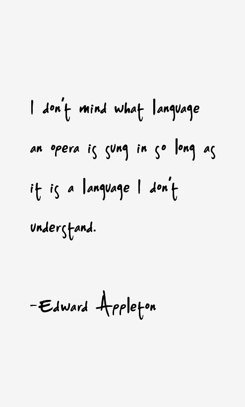Edward Appleton Quotes