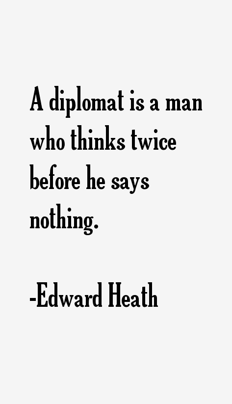 Edward Heath Quotes