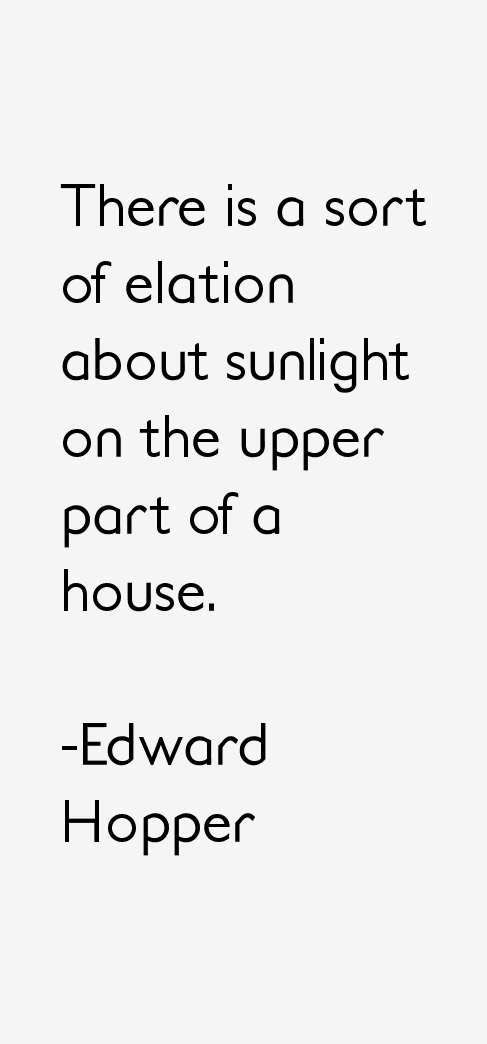 Edward Hopper Quotes