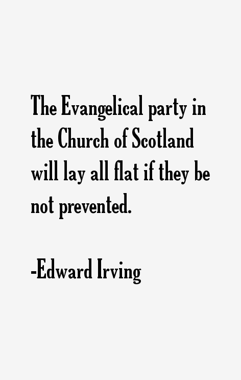 Edward Irving Quotes