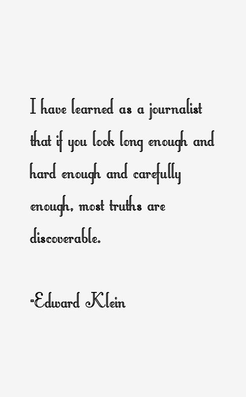 Edward Klein Quotes