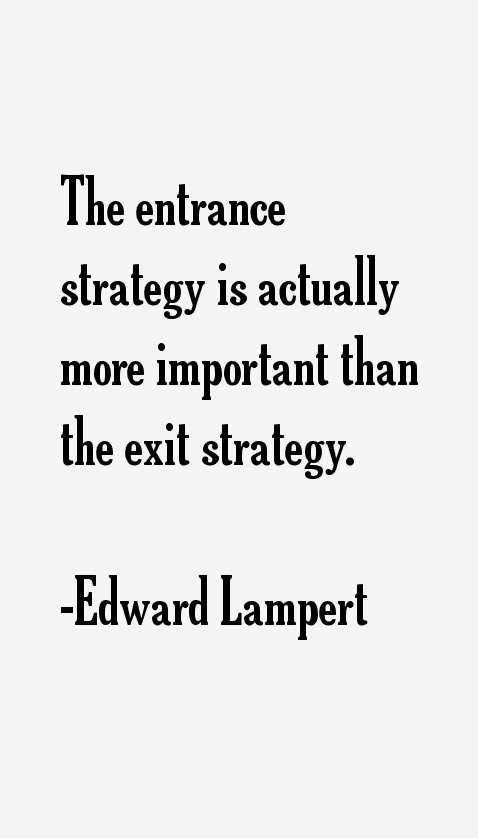 Edward Lampert Quotes