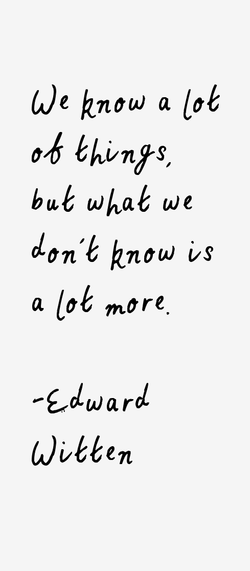 Edward Witten Quotes