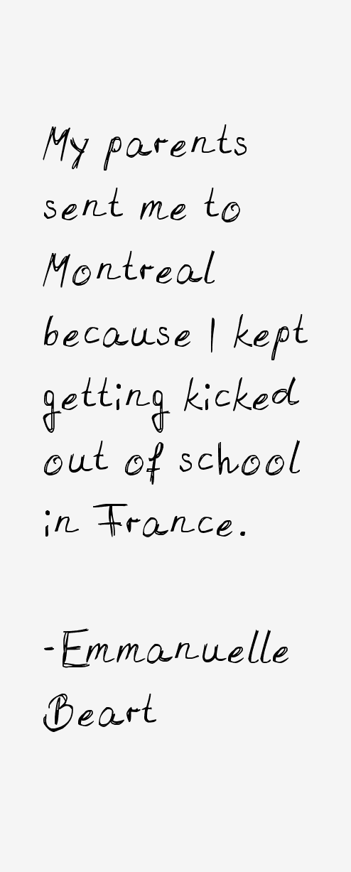 Emmanuelle Beart Quotes