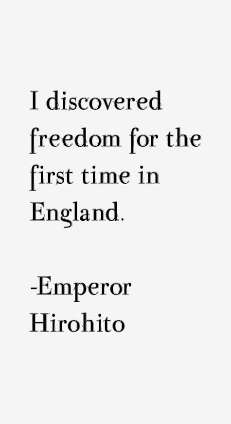 Emperor Hirohito Quotes