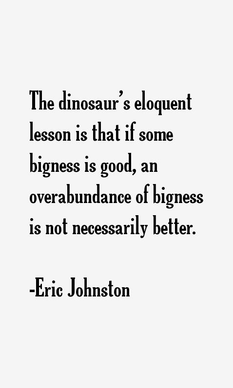 Eric Johnston Quotes
