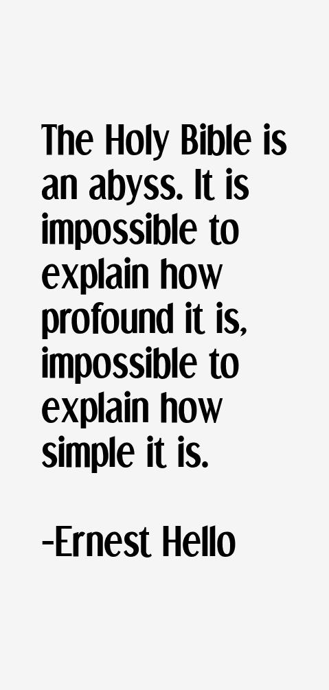 Ernest Hello Quotes