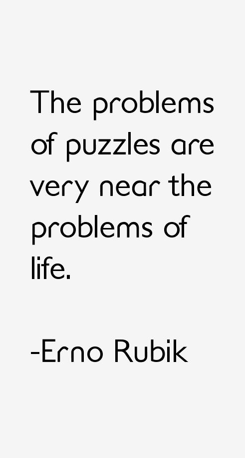 Erno Rubik Quotes