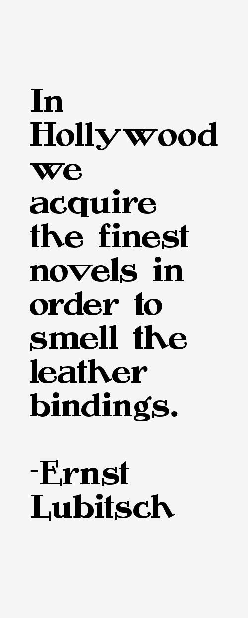Ernst Lubitsch Quotes