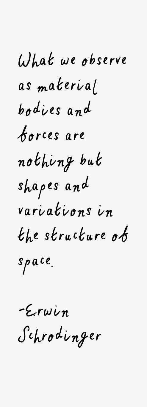 Erwin Schrodinger Quotes