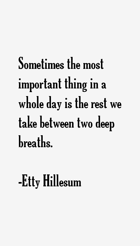 Etty Hillesum Quotes