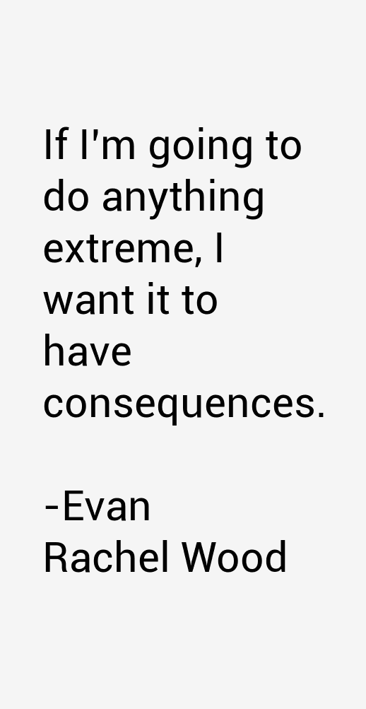 Evan Rachel Wood Quotes