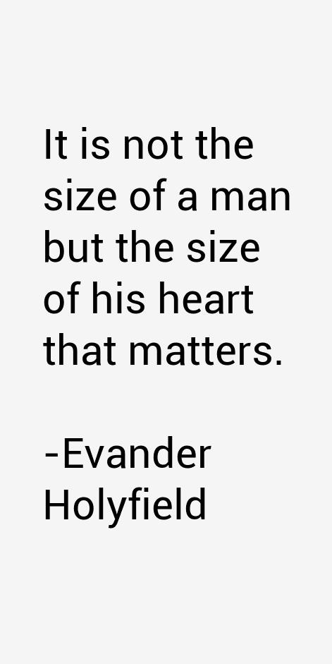 Evander Holyfield Quotes