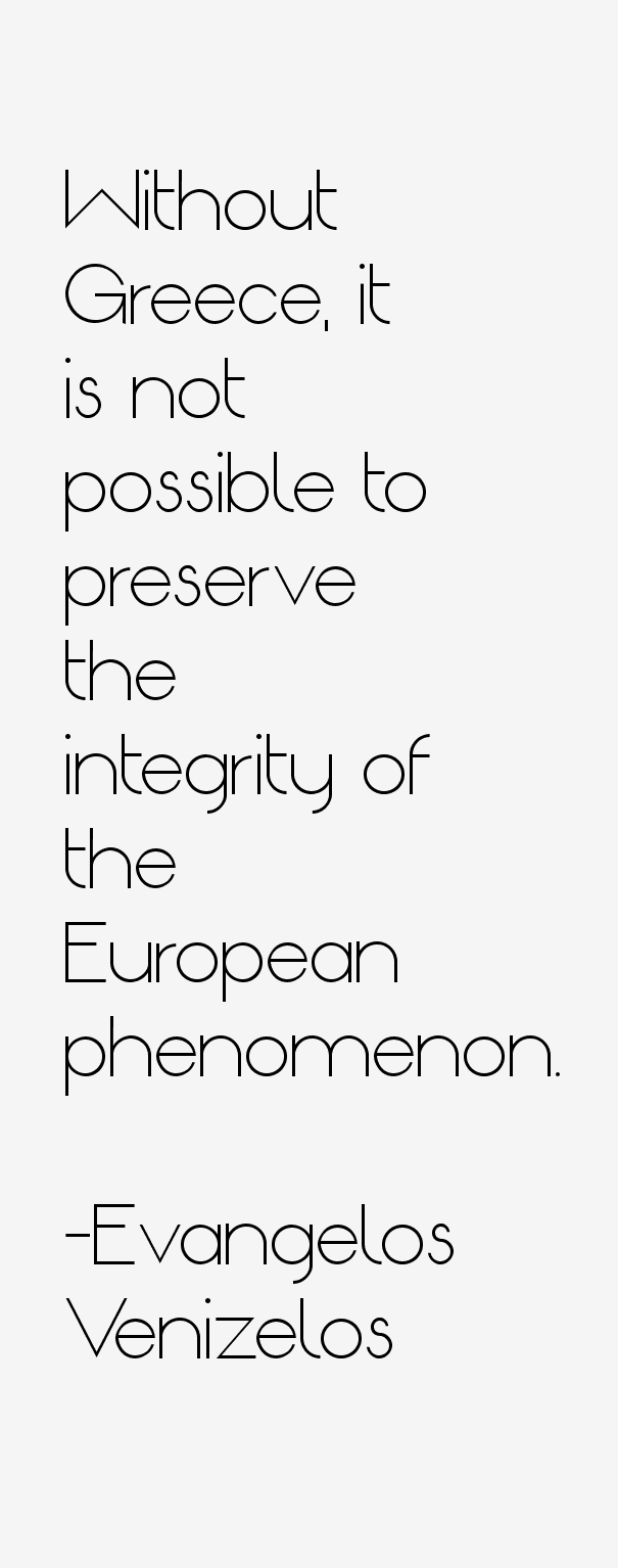Evangelos Venizelos Quotes