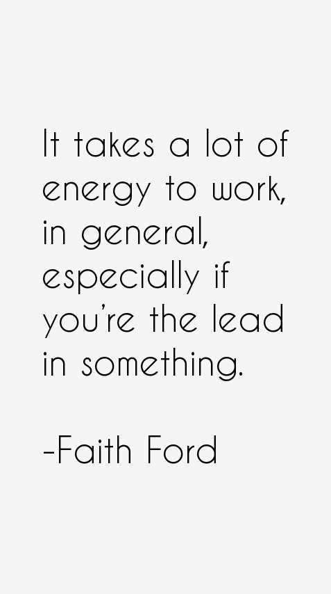 Faith Ford Quotes
