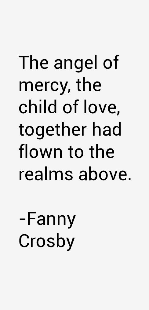 Fanny Crosby Quotes