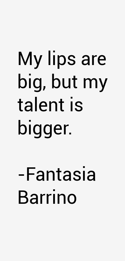 Fantasia Barrino Quotes