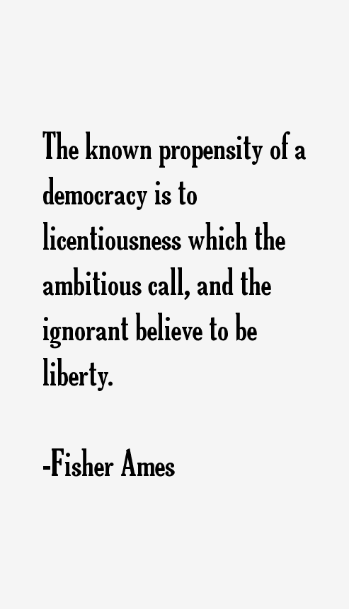 Fisher Ames Quotes
