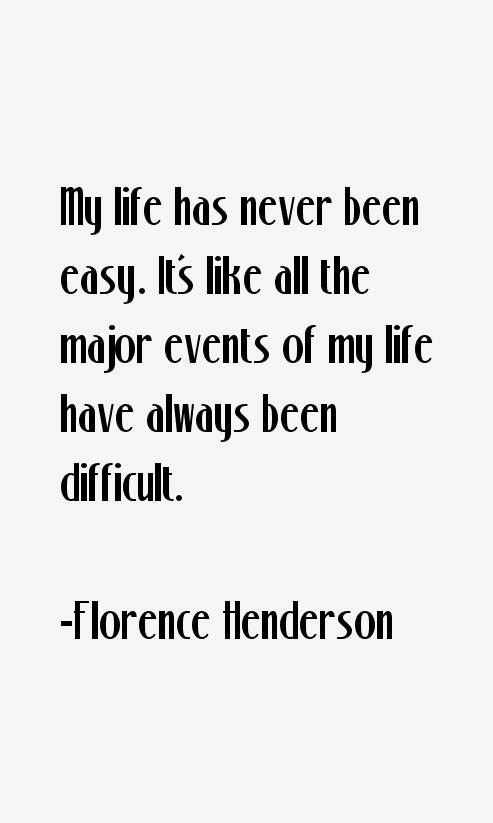 Florence Henderson Quotes