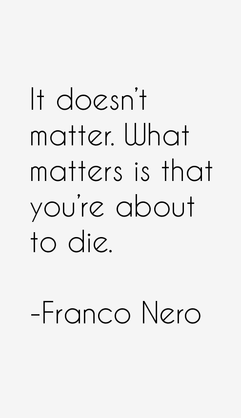 Franco Nero Quotes
