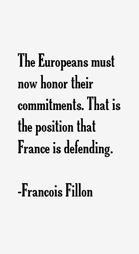 Francois Fillon Quotes