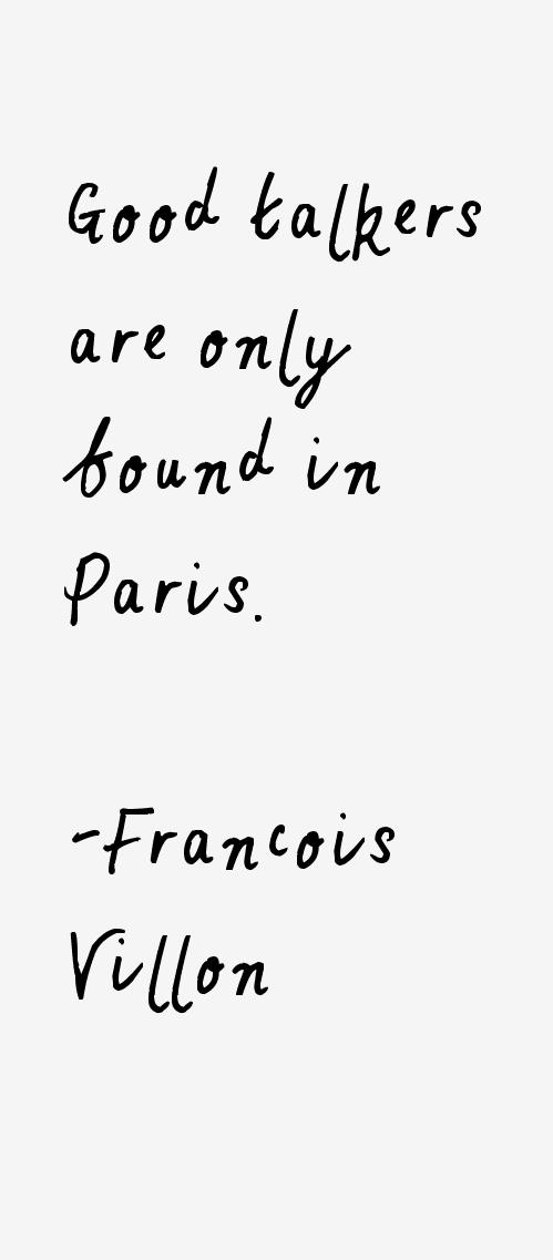 Francois Villon Quotes