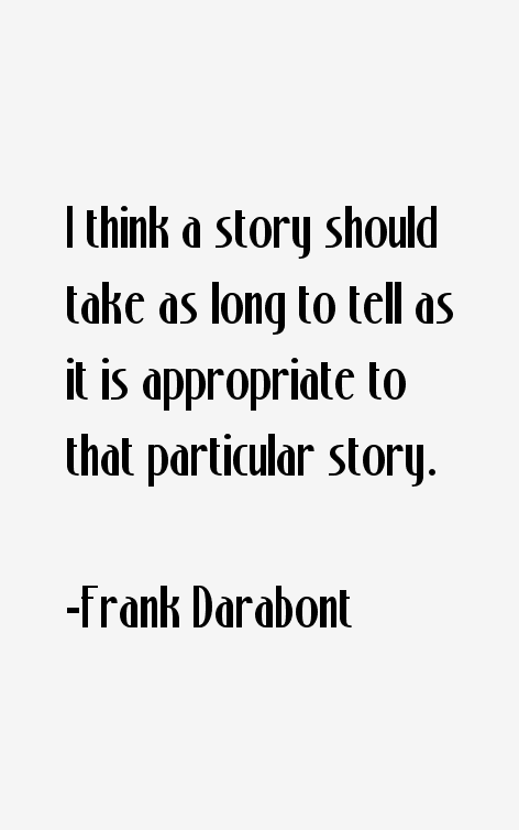 Frank Darabont Quotes