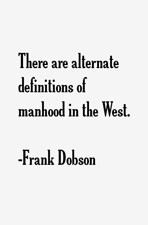 Frank Dobson Quotes