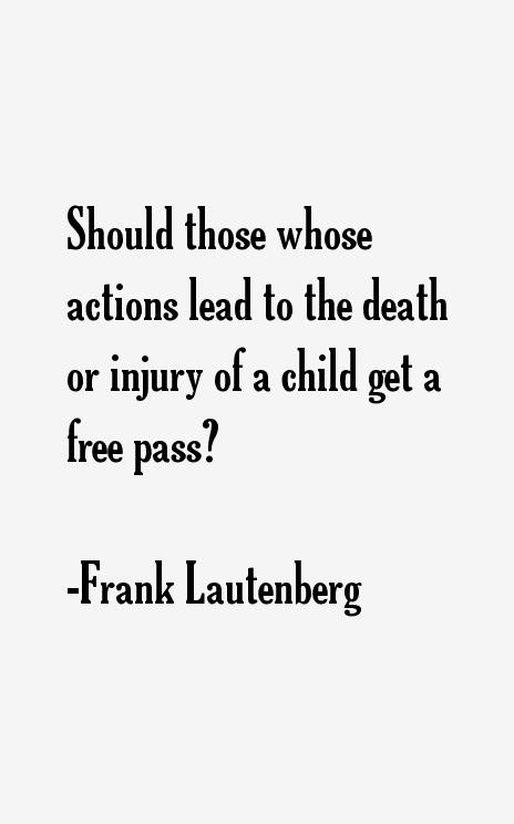 Frank Lautenberg Quotes