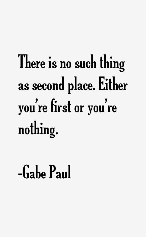 Gabe Paul Quotes