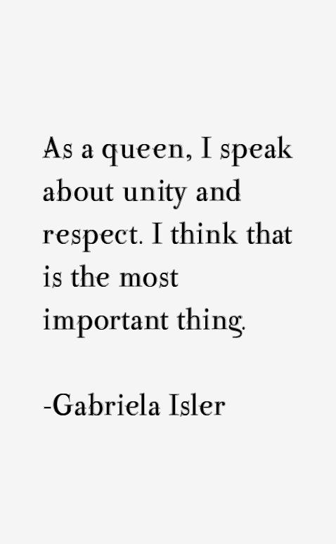Gabriela Isler Quotes