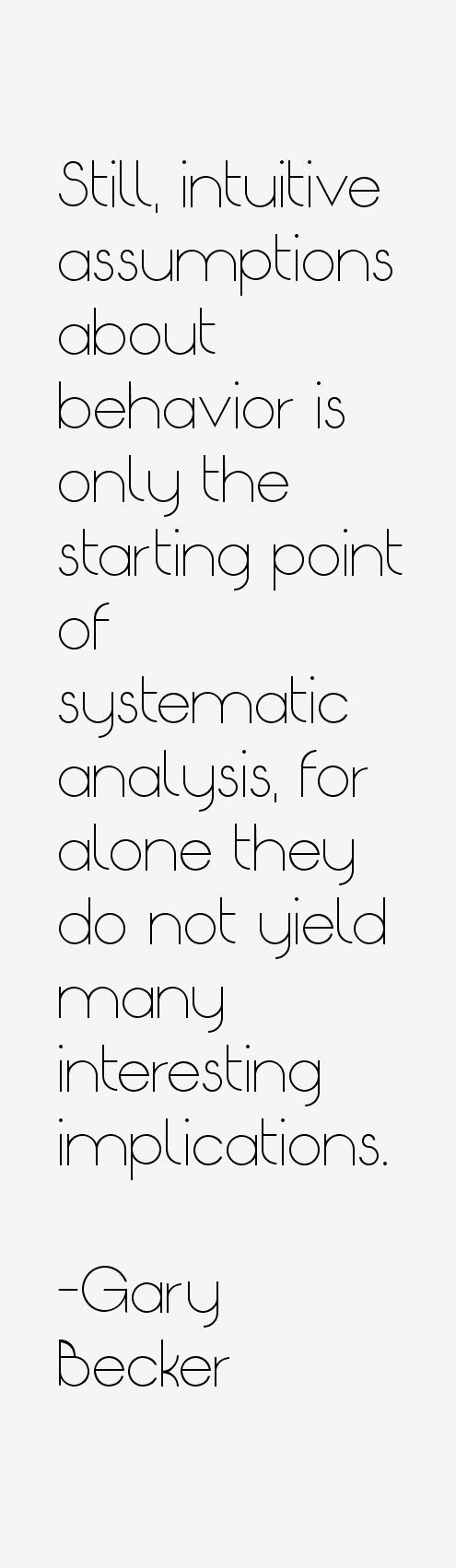 Gary Becker Quotes