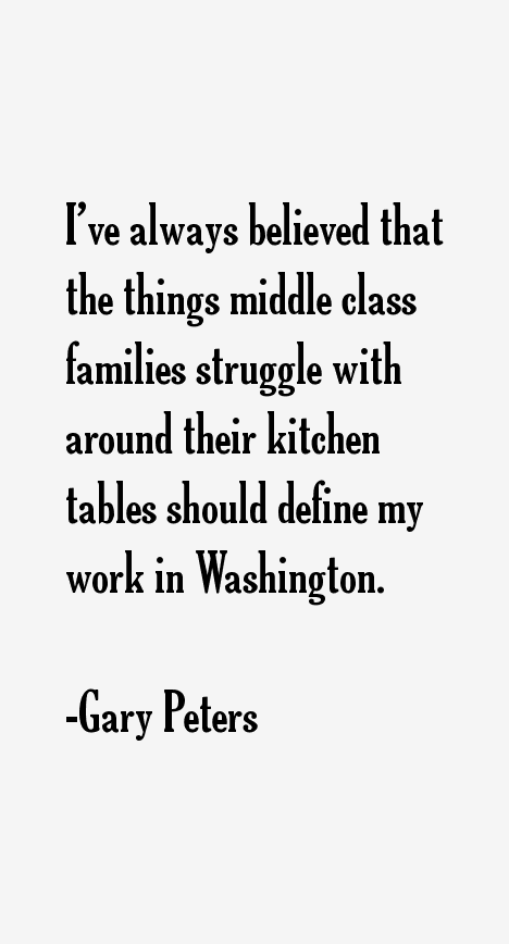 Gary Peters Quotes