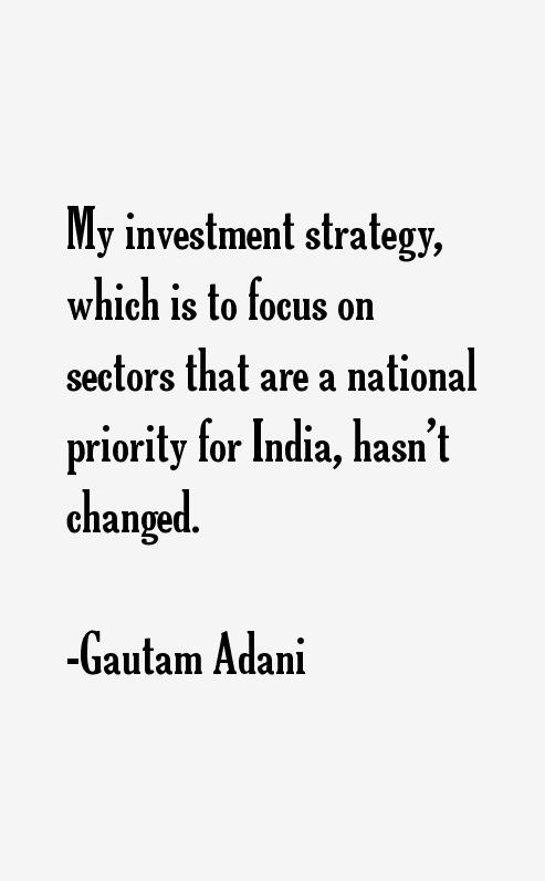 Gautam Adani Quotes