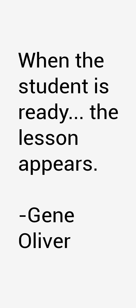 Gene Oliver Quotes