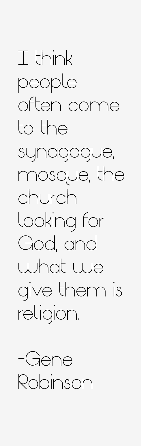 Gene Robinson Quotes