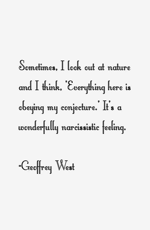 Geoffrey West Quotes