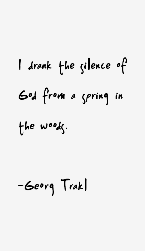 Georg Trakl Quotes