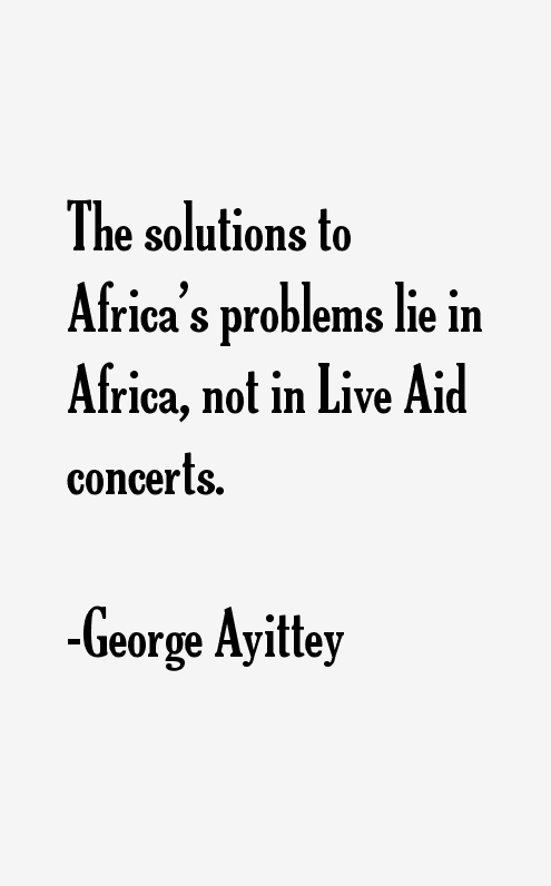 George Ayittey Quotes