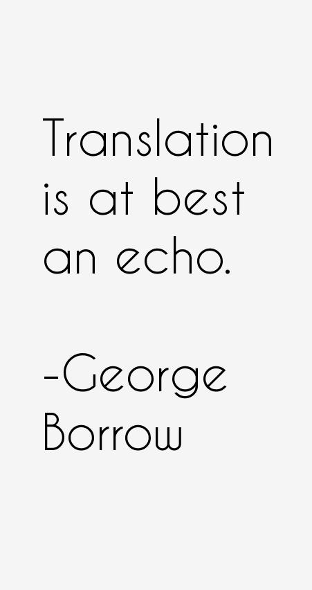 George Borrow Quotes