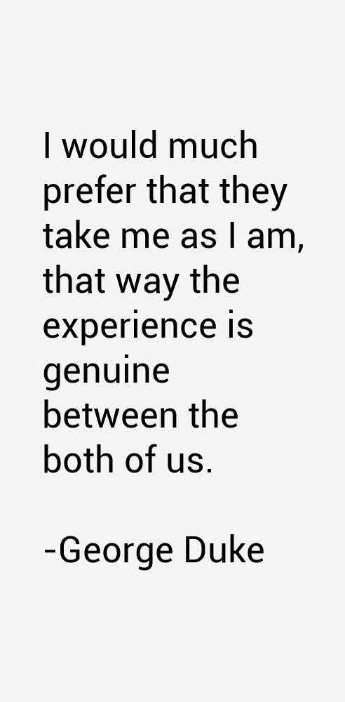 George Duke Quotes