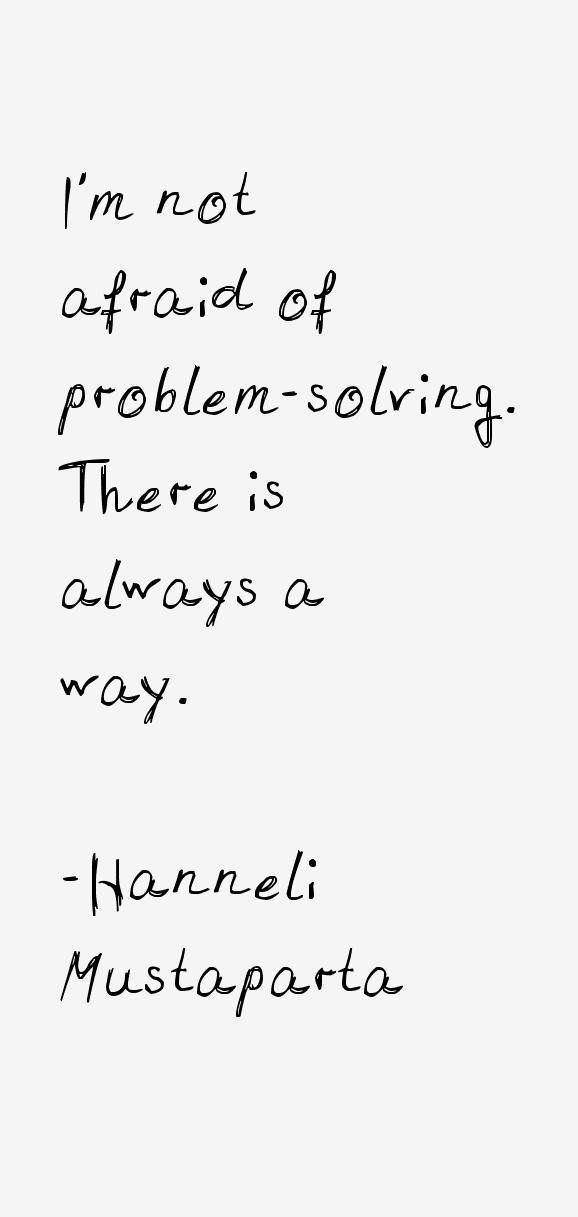 Hanneli Mustaparta Quotes